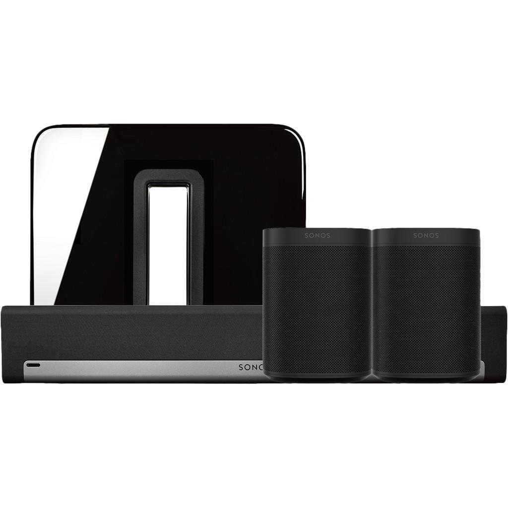 Sonos Playbar 5.1 + One (x2) + Sub Zwart
