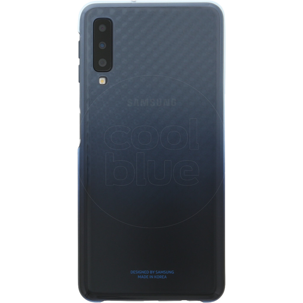 Samsung Galaxy A7 (2018) Gradation Clear Back Cover Blauw