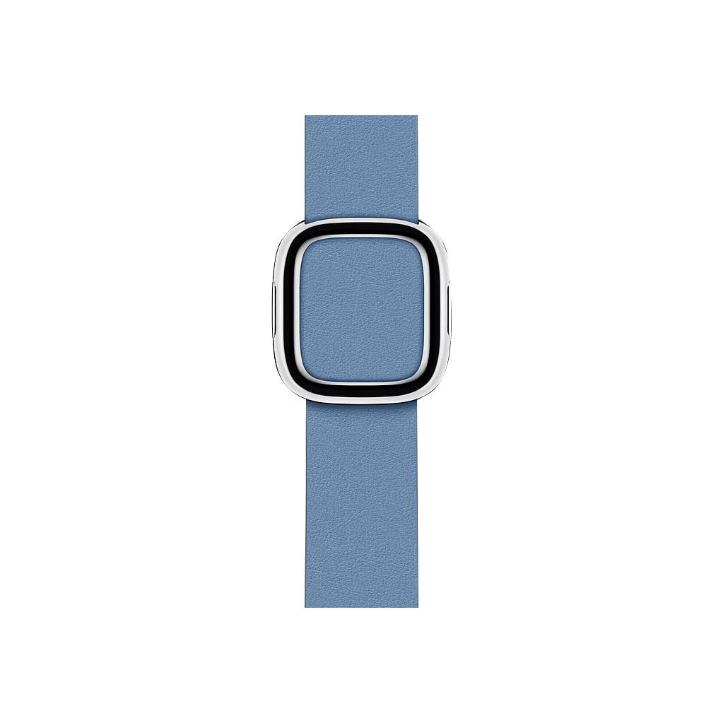 Apple Watch 40mm Modern Leren Horlogeband Korenbloemblauw - Large