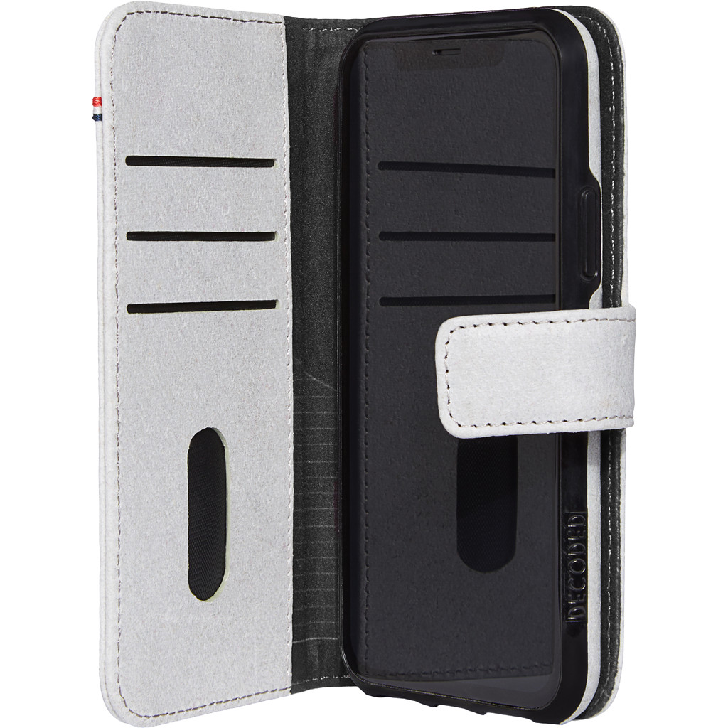 Decoded 2-in-1 Apple iPhone 11 Pro Book Case Gerecycled Leer Grijs