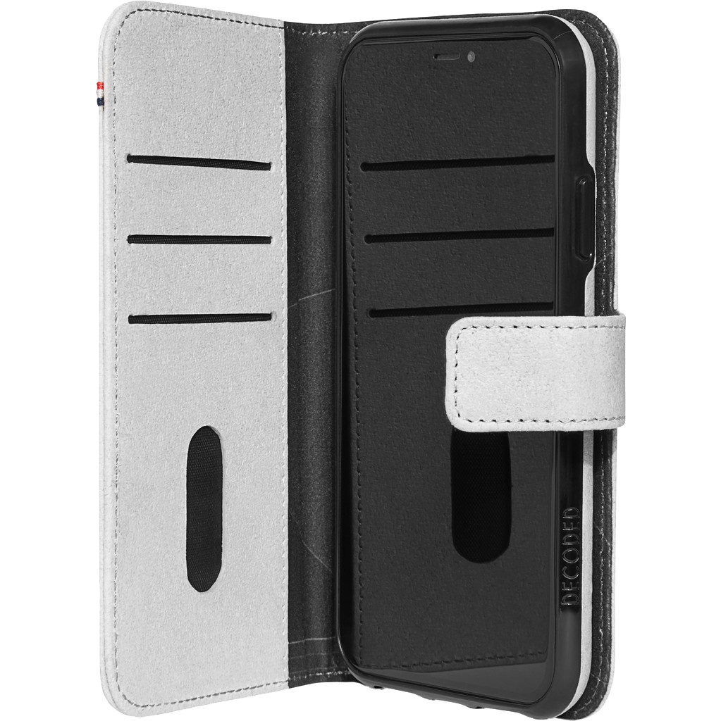 Decoded 2-in-1 Apple iPhone 11 Book Case Gerecycled Leer Grijs