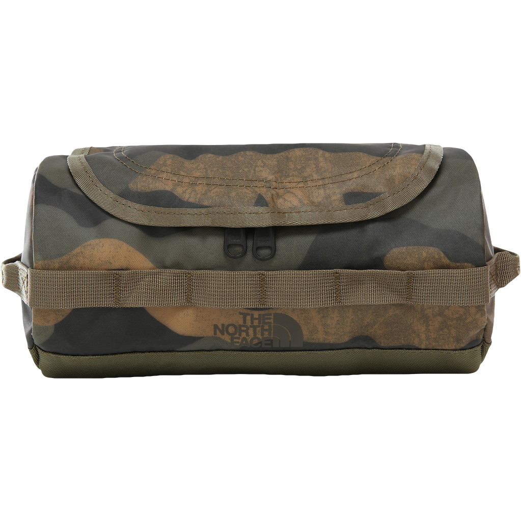The North Face Base Camp Travel Canister Toiletbag S Burnt Olive Green Woods Camo Print