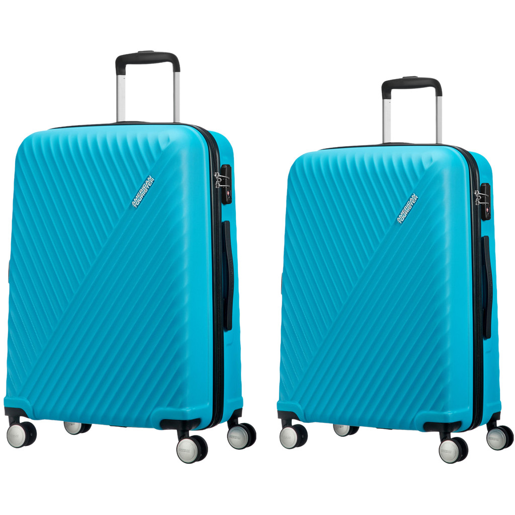 American Tourister Visby Spinner 55cm + 76cm Light Blue kofferset
