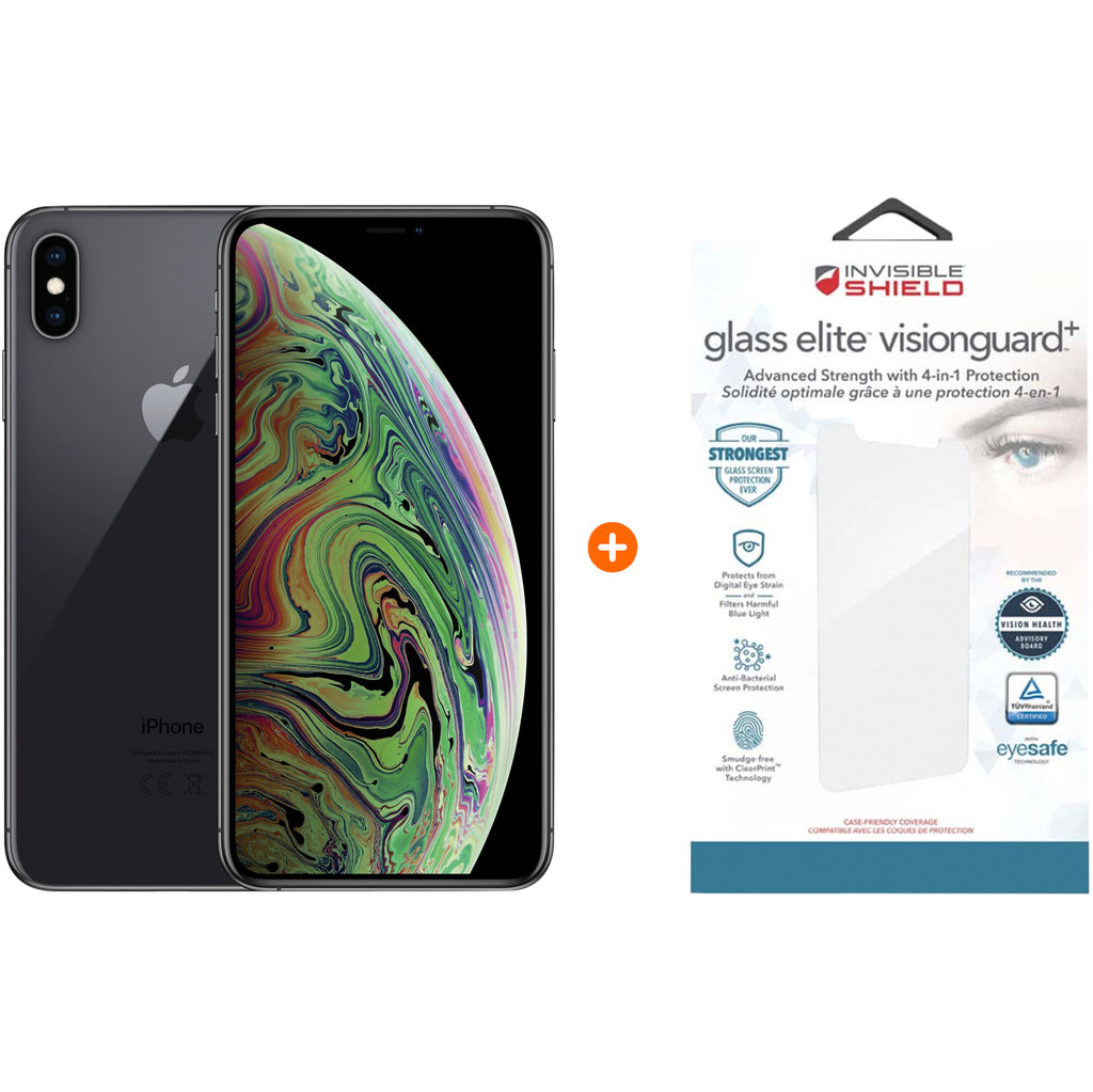 Apple iPhone Xs Max 64 GB Space Gray + InvisibleShield Glass