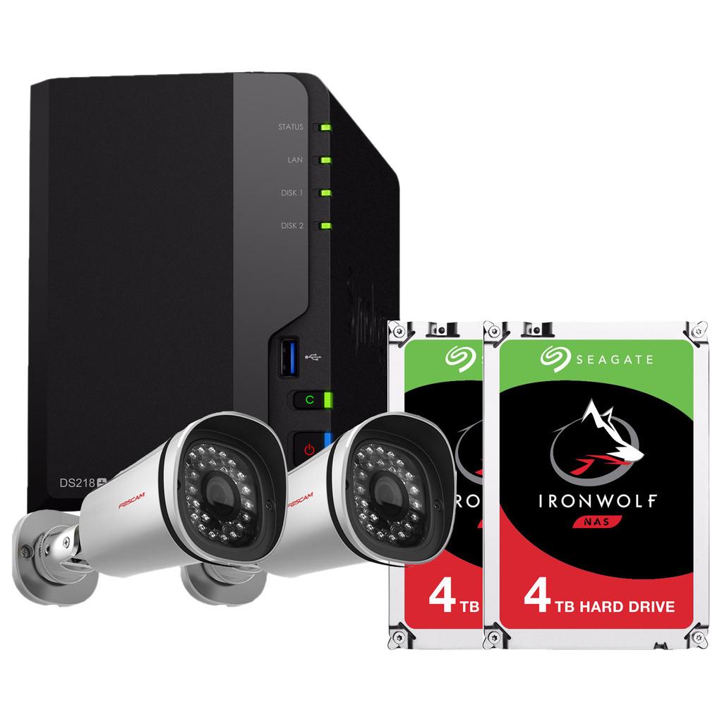 Surveillance pakket voor buiten - Synology DS218+ met 8TB