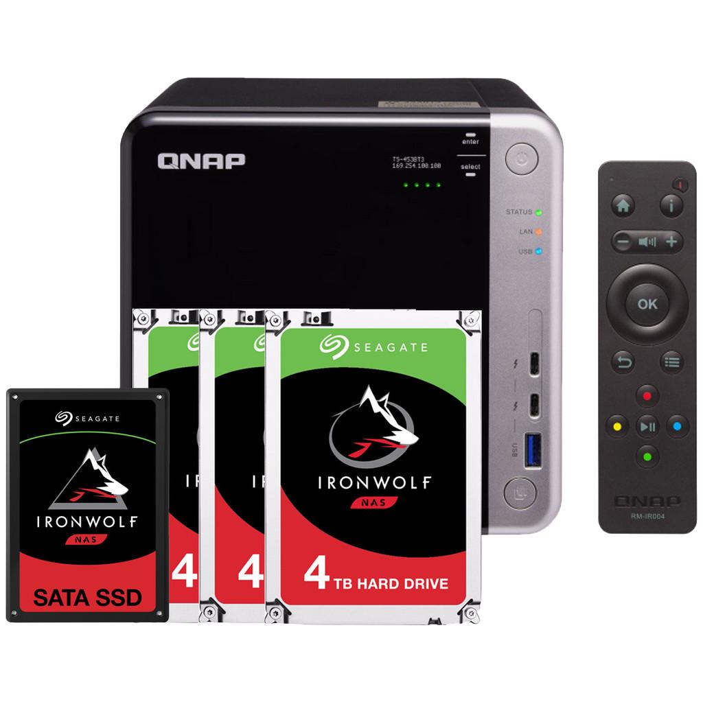QNAP TS-453BT3 8GB + 1x 960GB SSD + 3x 4TB HDD