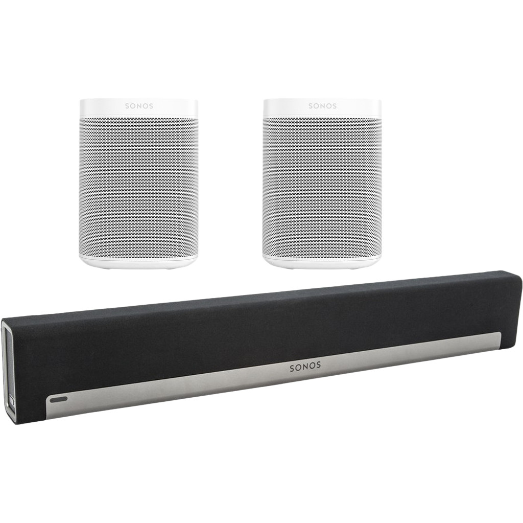 Sonos Playbar 5.0 + One SL (2x) Wit