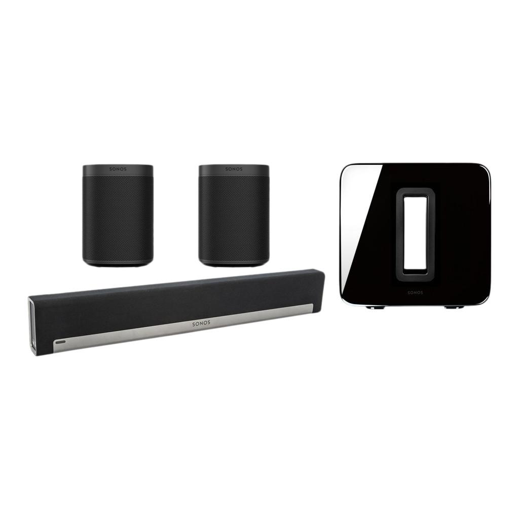 Sonos Playbar 5.1 + One SL (2x) + Sub Zwart