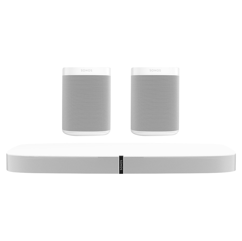 Sonos Playbase 5.0 + One SL (2x) Wit