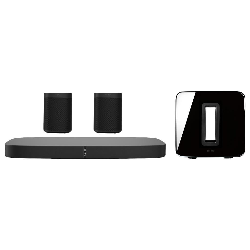 Sonos Playbase 5.1 Zwart + One Zwart (2x) + Sub Zwart