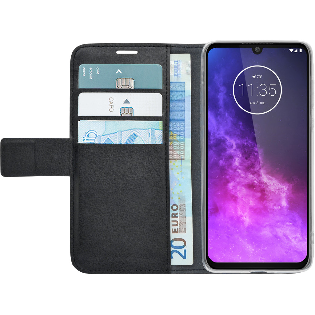 Azuri Wallet Magneet Motorola One Zoom Book Case Zwart