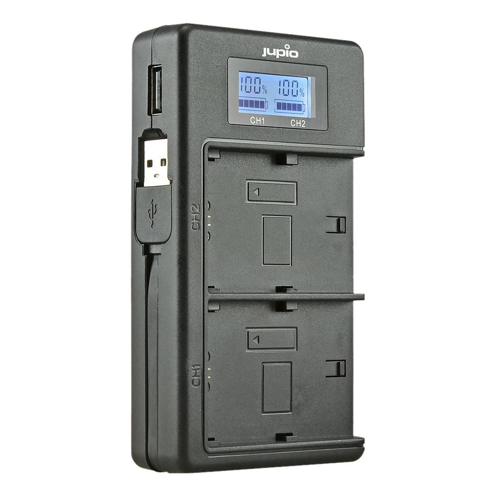 Jupio USB Duo Charger LCD voor Sony NP-FW50