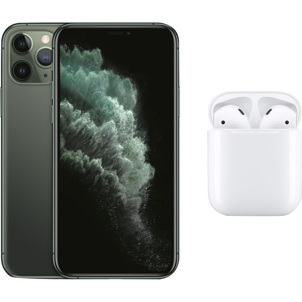 Apple iPhone 11 Pro 64 GB Midnight Green + Apple AirPods 2 met oplaadcase