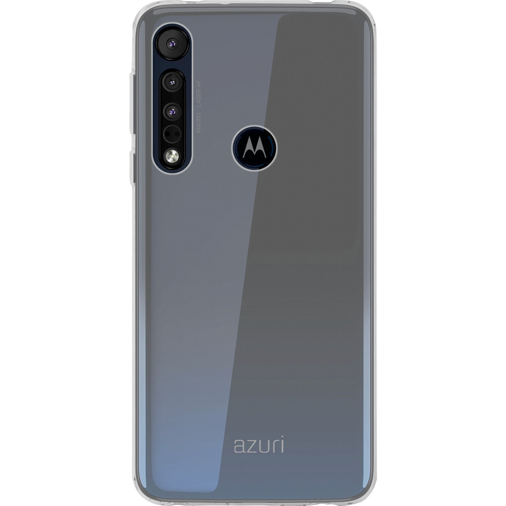 Azuri TPU Motorola One Macro Back Cover Transparant