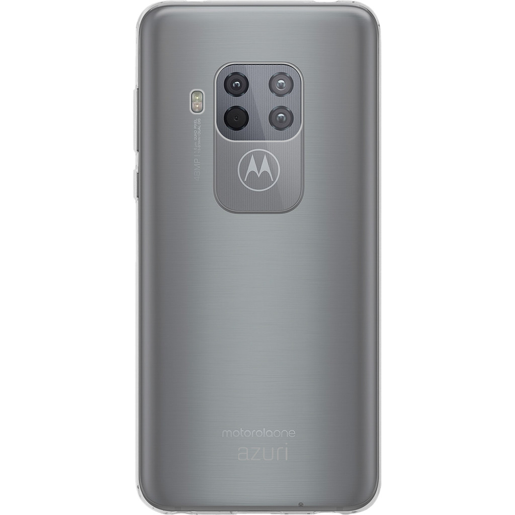 Azuri TPU Motorola One Zoom Back Cover Transparant