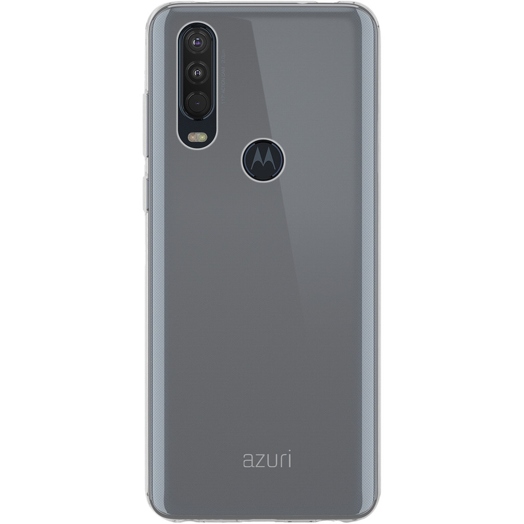 Azuri TPU Motorola One Action Back Cover Transparant