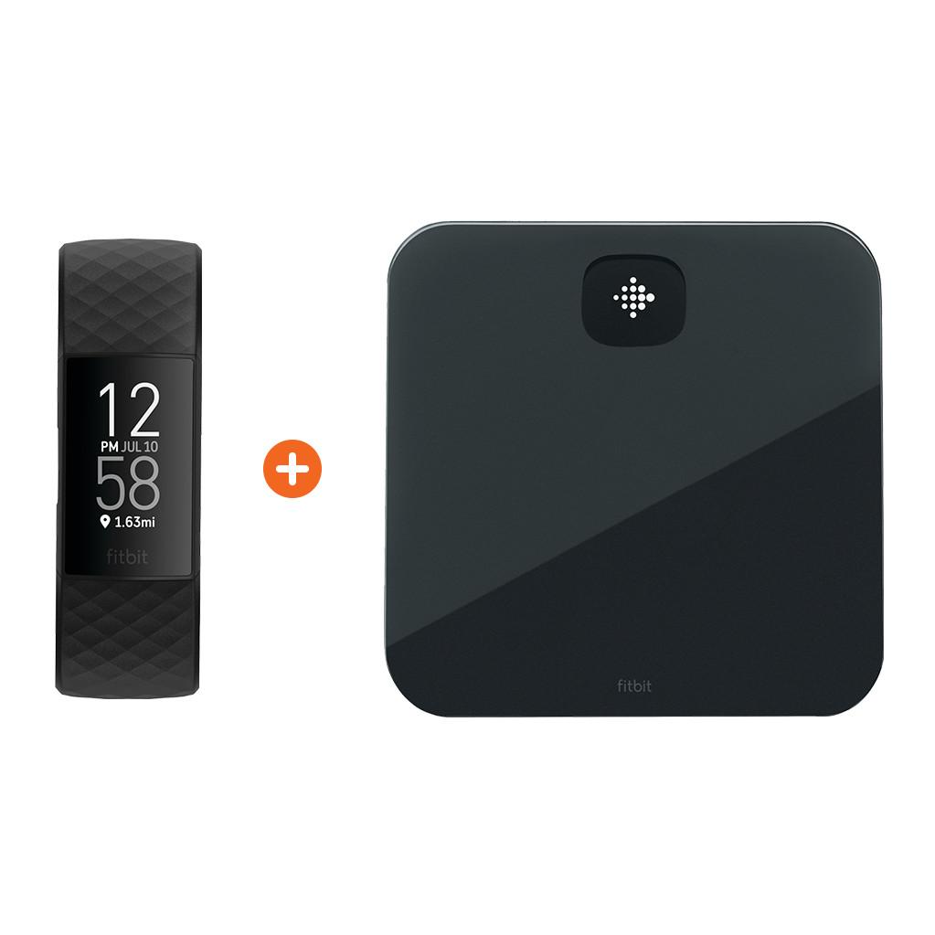 Fitbit Charge 4 Zwart + Fitbit Aria Air Zwart