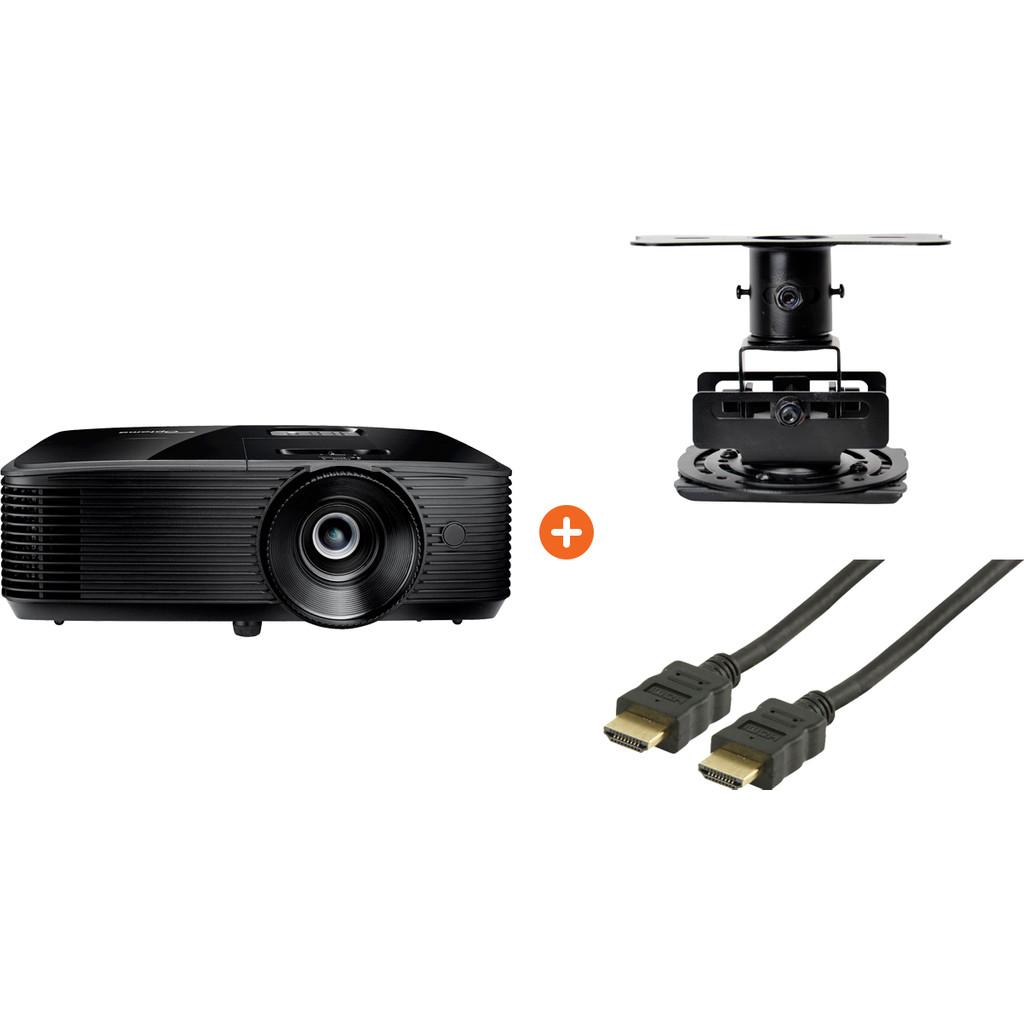 Optoma H184X + HDMI kabel 10 meter + Beamerbeugel