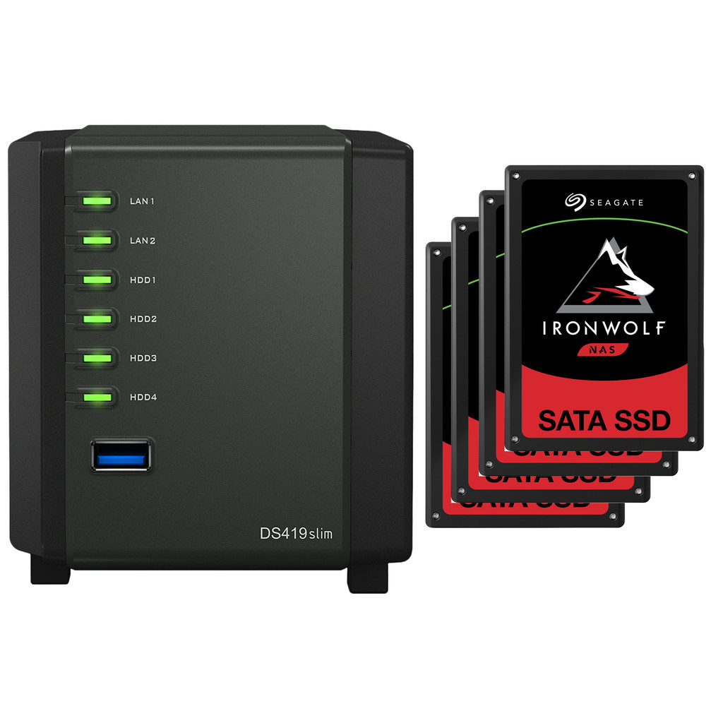 Synology DS419slim + 7680 GB