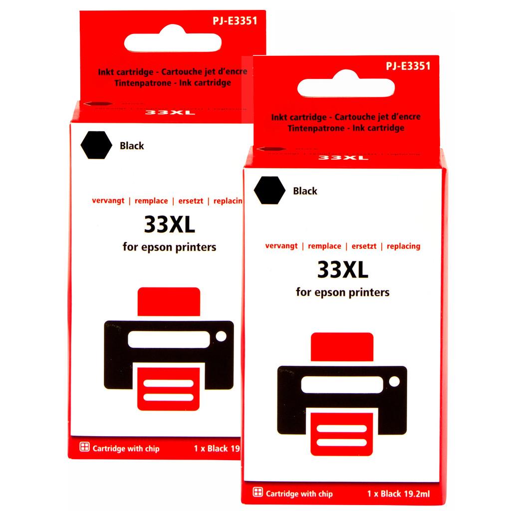 Pixeljet 33XL Duo Pack Zwart voor Epson printers (C13T335140