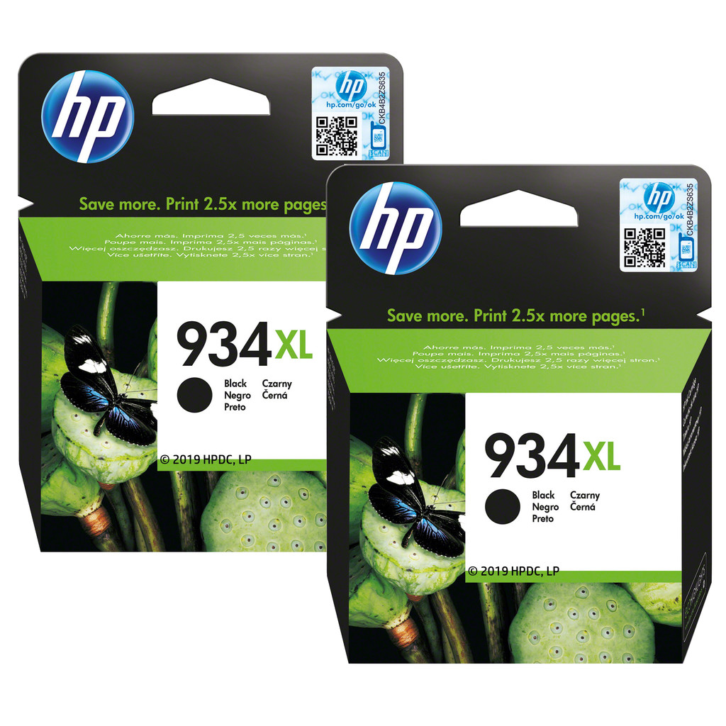 HP 934XL Duo Pack Zwart (C2P23AE)