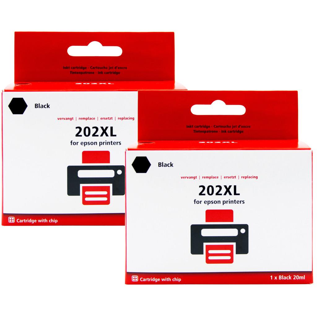 Pixeljet 202XL Duo Pack Zwart voor Epson printers (C13T02E14