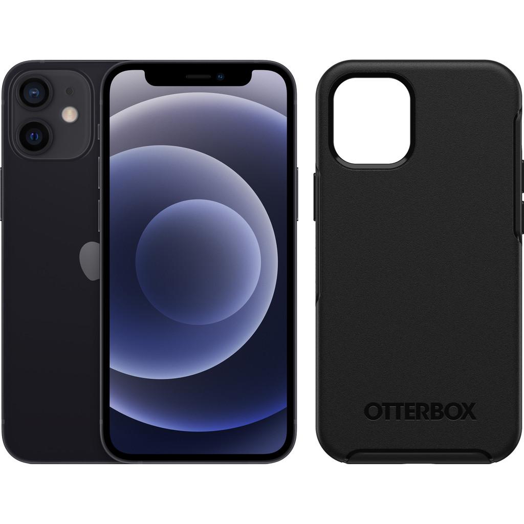 Apple iPhone 12 mini 128GB Zwart + Otterbox Symmetry Back Cover Zwart