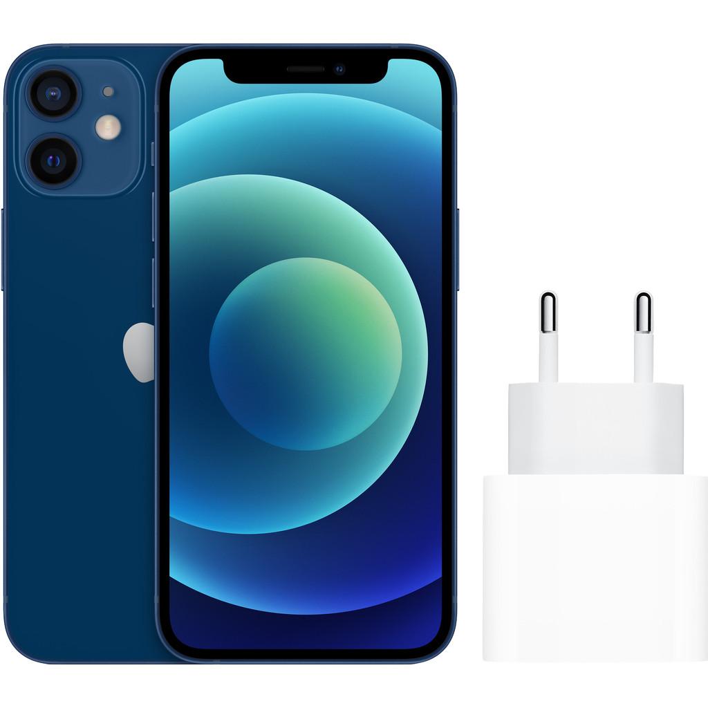 Apple iPhone 12 mini 128GB Blauw + Apple Usb C Oplader 20W