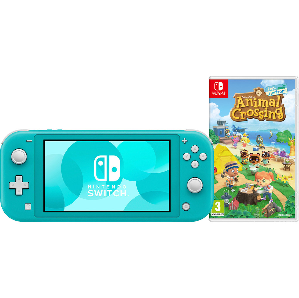 Nintendo Switch Lite Turquoise + Animal Crossing + Nintendo Switch Online (3 maanden)