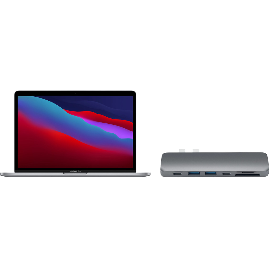 Apple MacBook Pro 13 (2020) MYD82FN/A Space Gray AZERTY + Satechi usb C hub