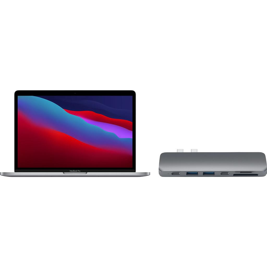 Apple MacBook Pro 13 (2020) MYD92FN/A Space Gray AZERTY + Satechi usb C hub