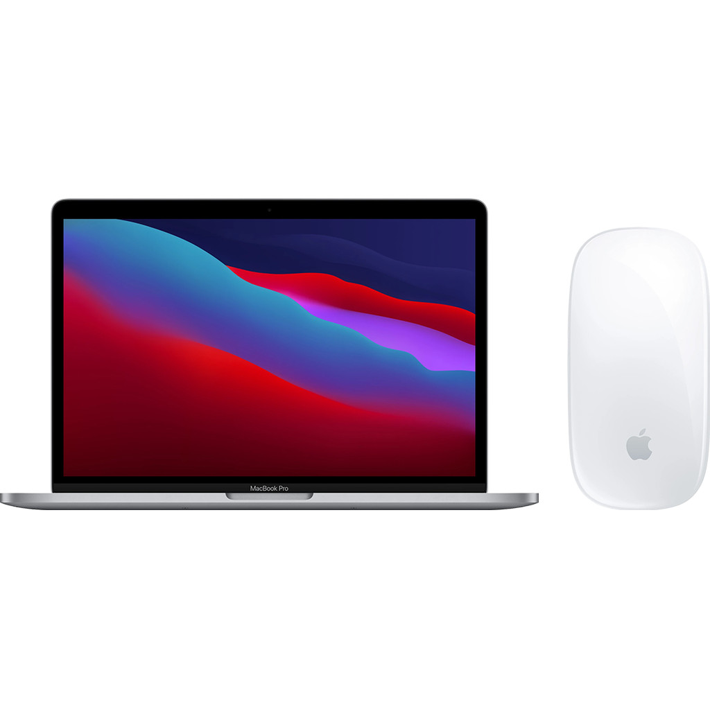 Apple MacBook Pro 13 (2020) 16GB/512GB Apple M1 Space Gray AZERTY + Apple Magic Mouse 2