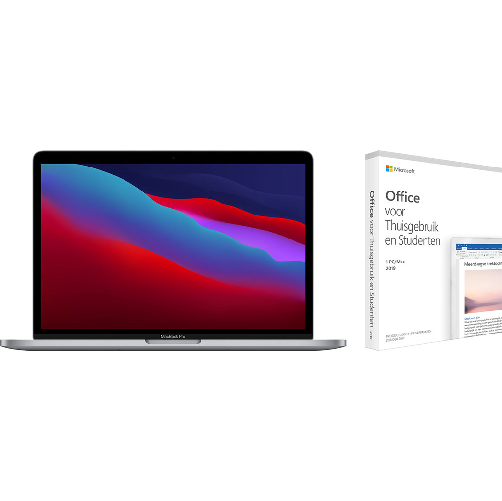 Apple MacBook Pro 13 (2020) 16GB/512GB Apple M1 Space Gray AZERTY + Microsoft Office 2019