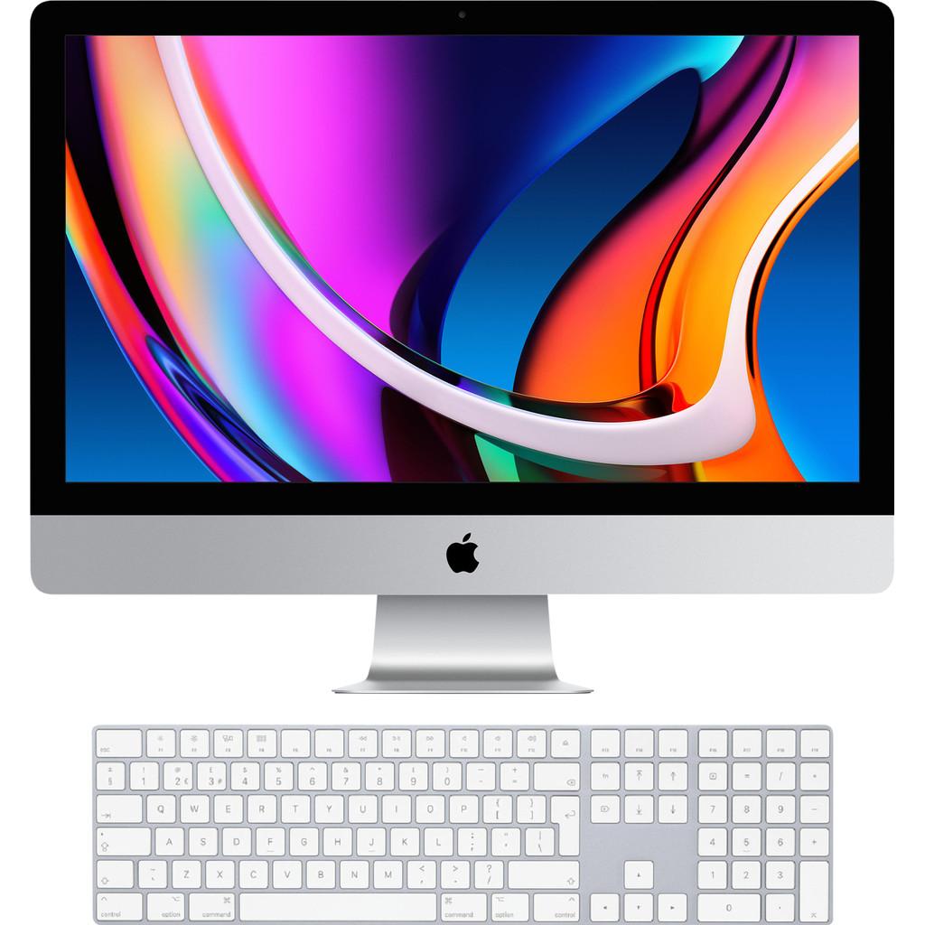 Apple iMac 27 (2020) MXWV2FN/A + Magic Keyboard met numeriek toetsenblok AZERTY