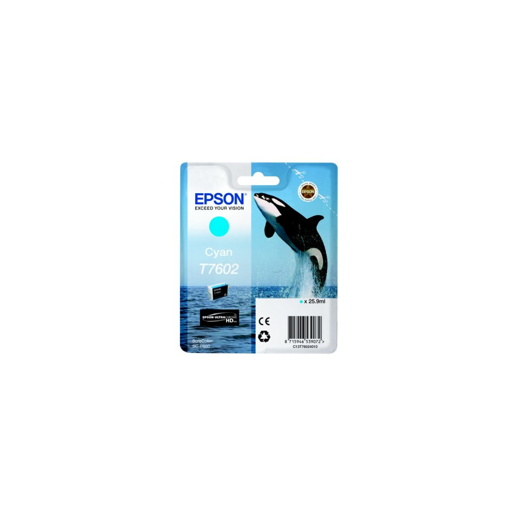 Epson T7602 Cartouche Cyan C13T76024010