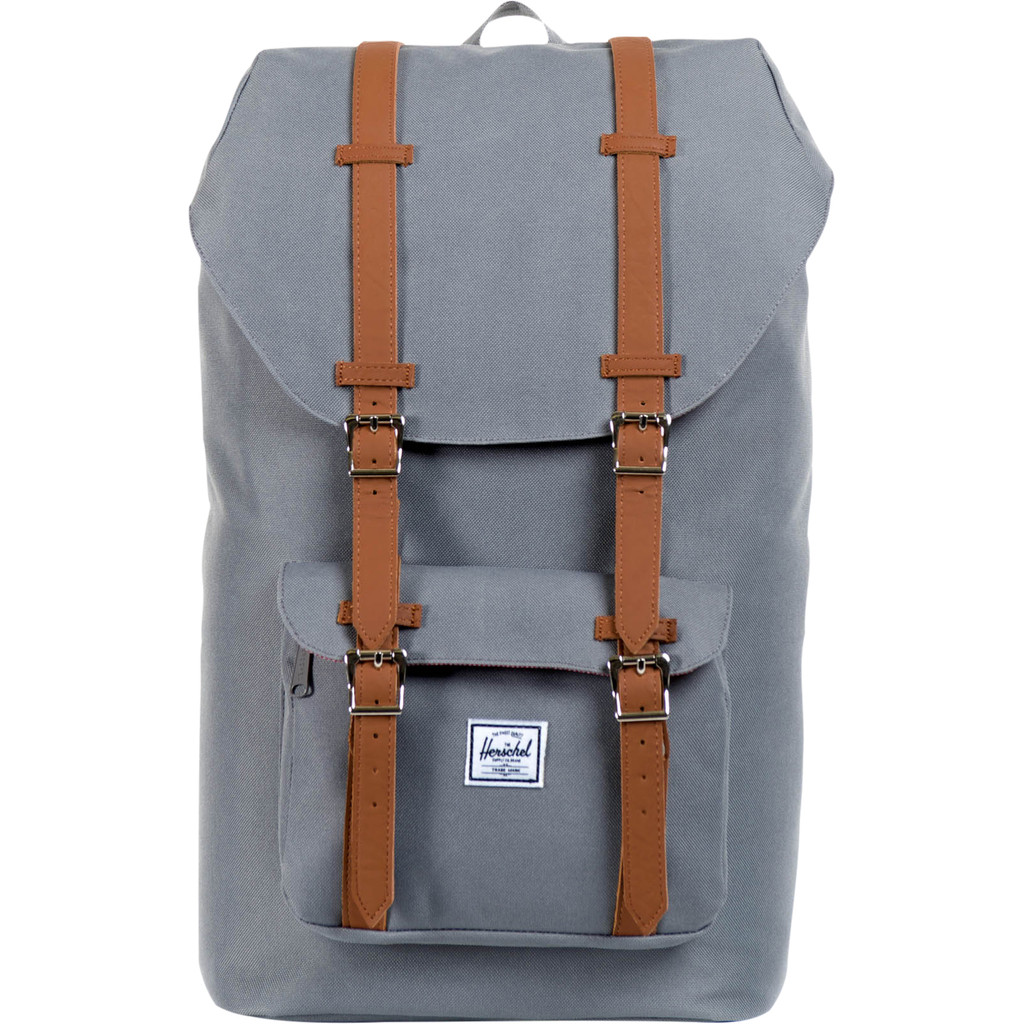 "Herschel Little America 15"" Grey/Tan PU 25L"