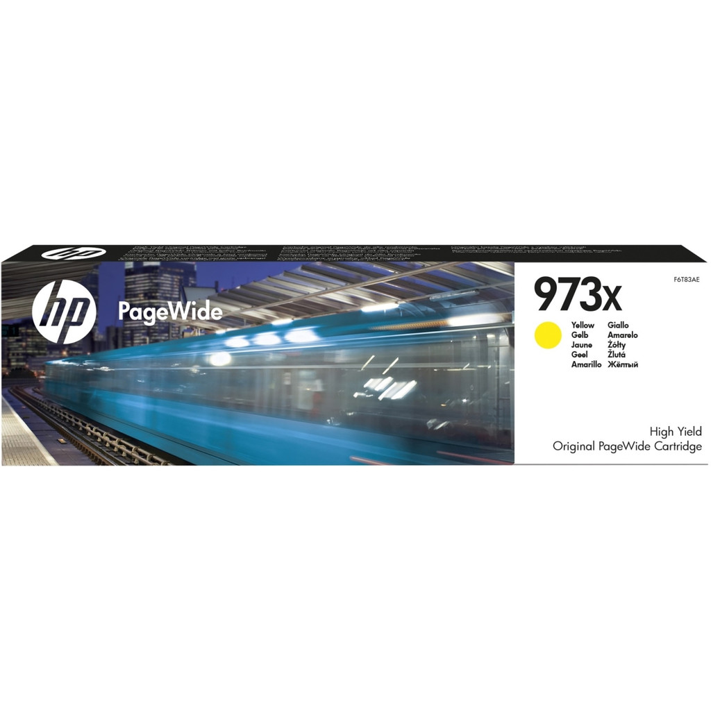 HP 973X PageWide Cartridge Geel (F6T83AE)