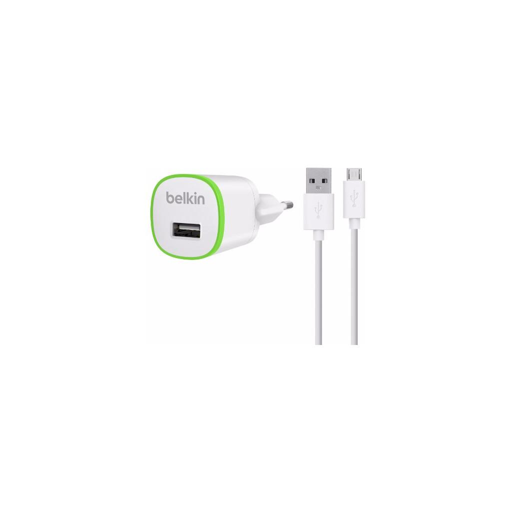 Belkin Chargeur Micro USB 1 A 1,2 m Blanc