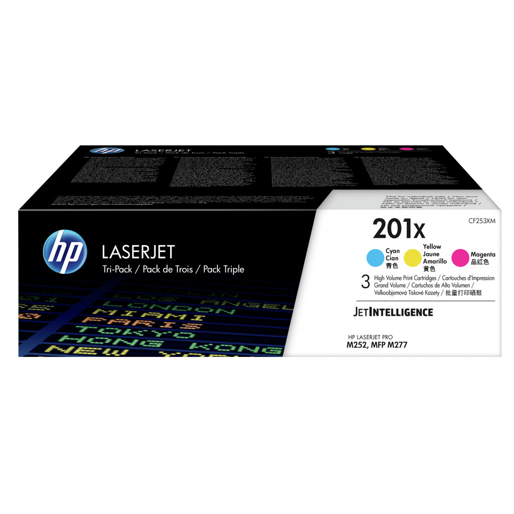 HP 201X Pack 3 couleurs (CF253XM)