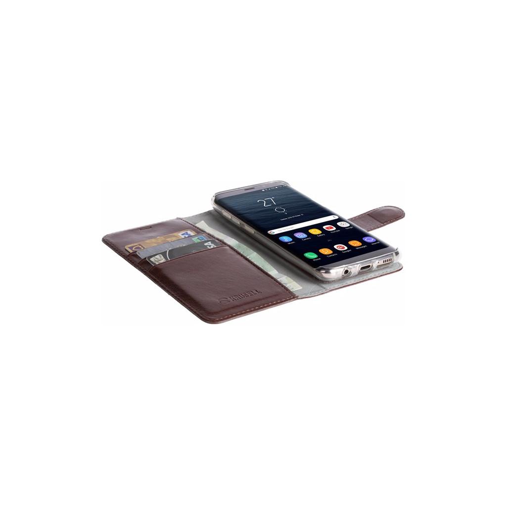 Krusell Ekero 2 in 1 Wallet Samsung S8 Plus Book Case Bruin