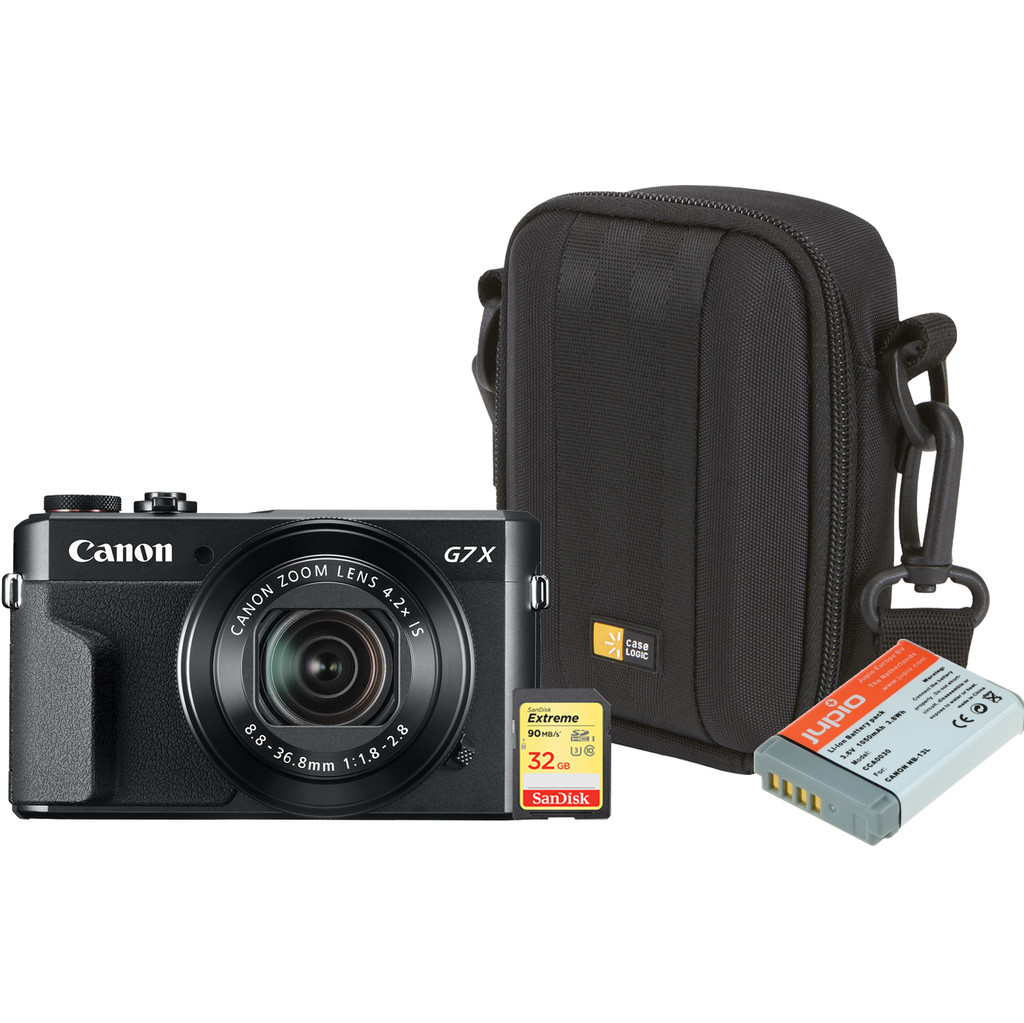 Starterskit - Canon Powershot G7 X II + Geheugen + Tas + Extra accu