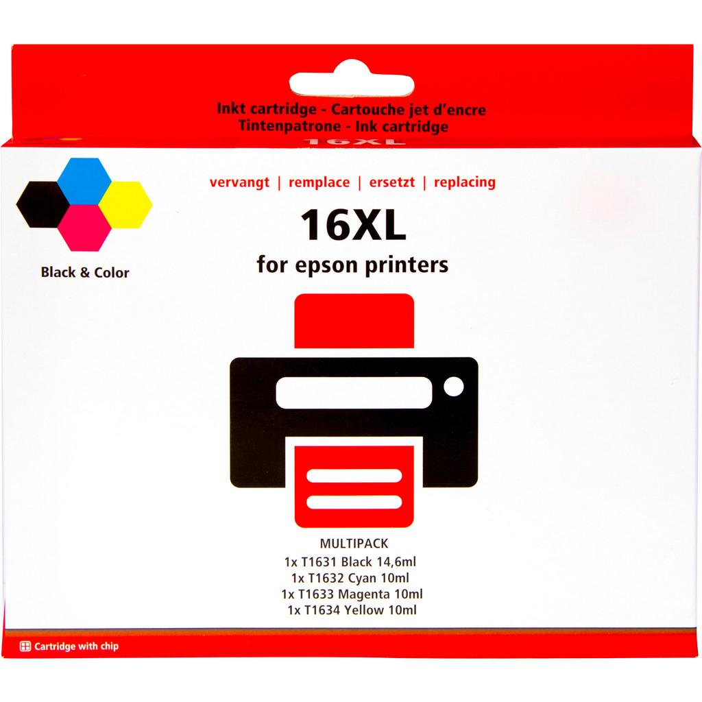 Pixeljet 16 XL 4-Kleuren Pack voor Epson printers (C13T16364010)
