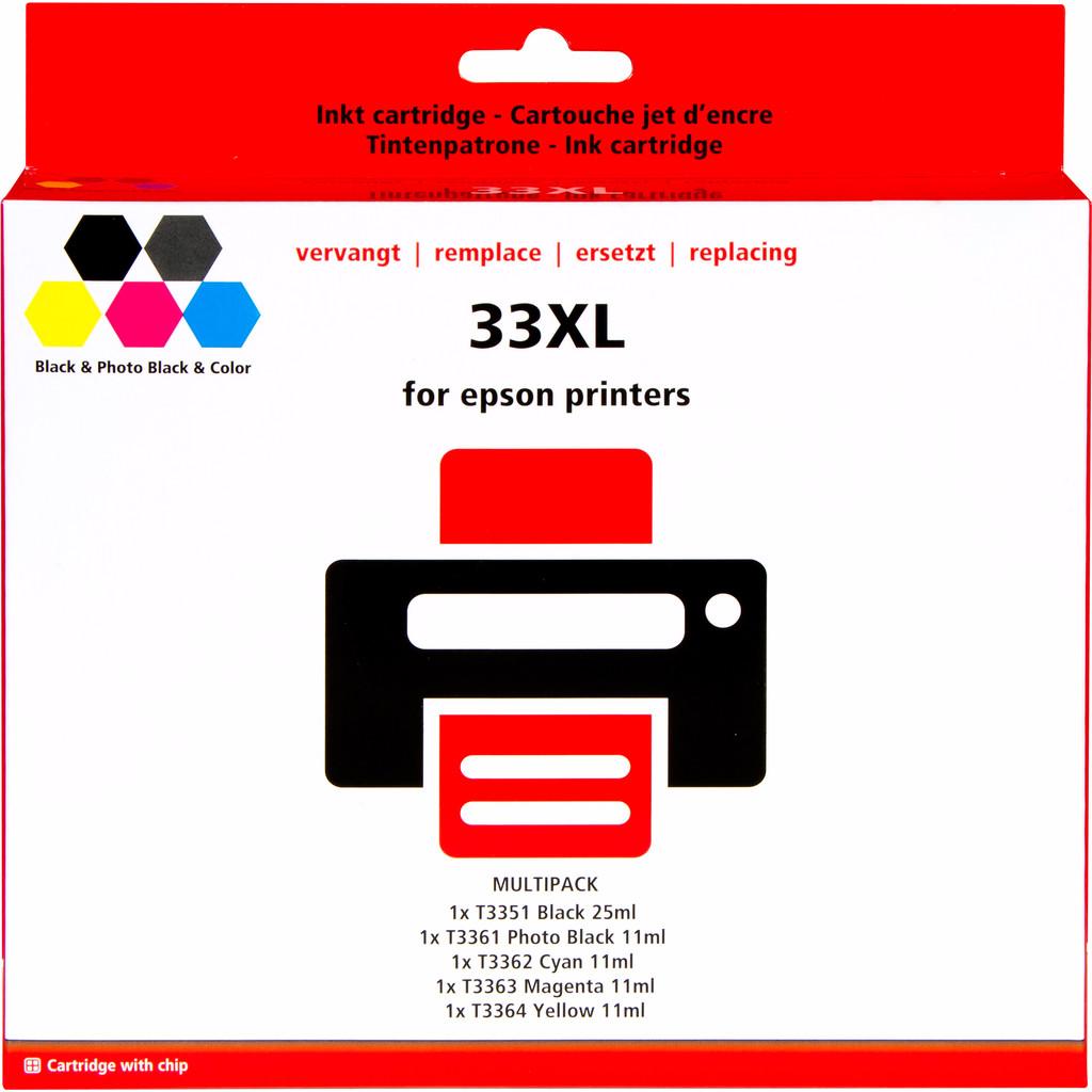 Pixeljet 33 XL 5-Kleuren Pack voor Epson printers (C13T33574010)