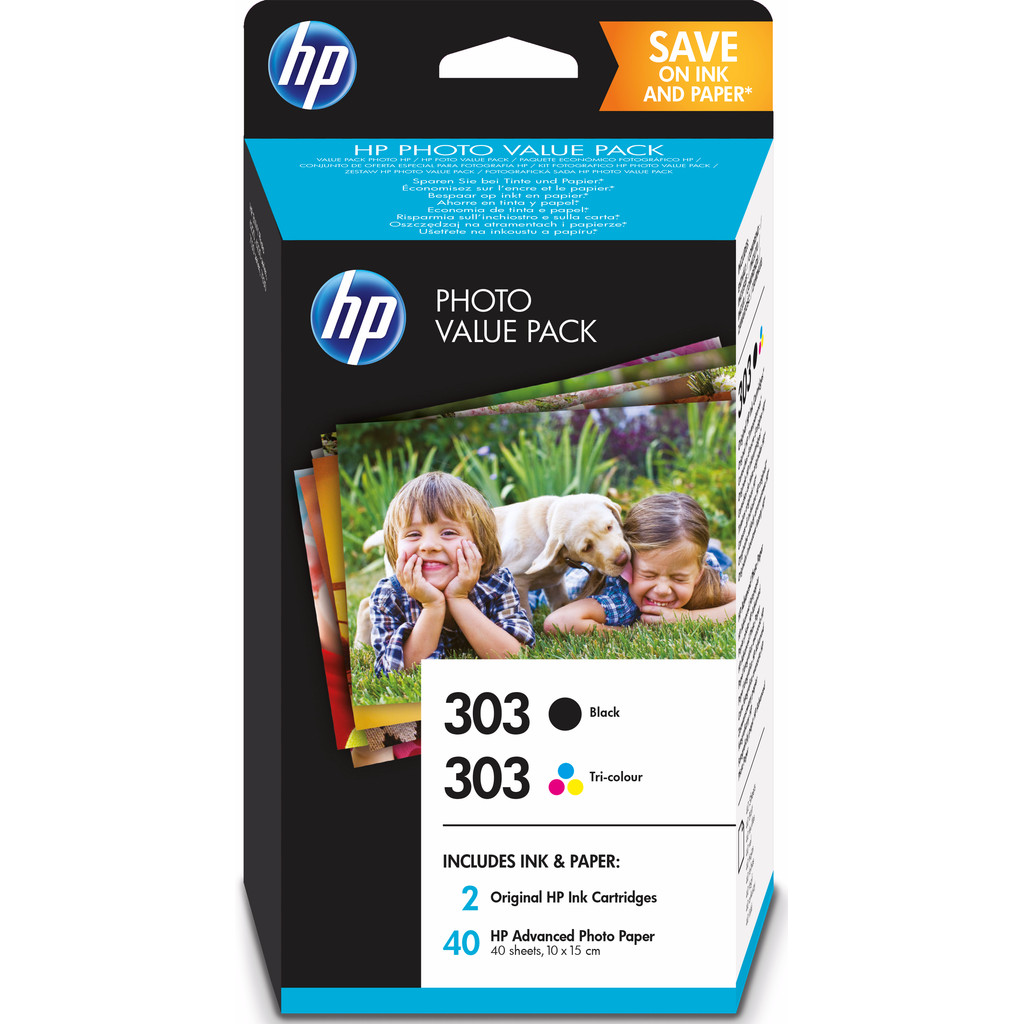 HP 303 Pack 4 Couleurs et 40 feuilles 10 x 15 cm (Z4B62EE)