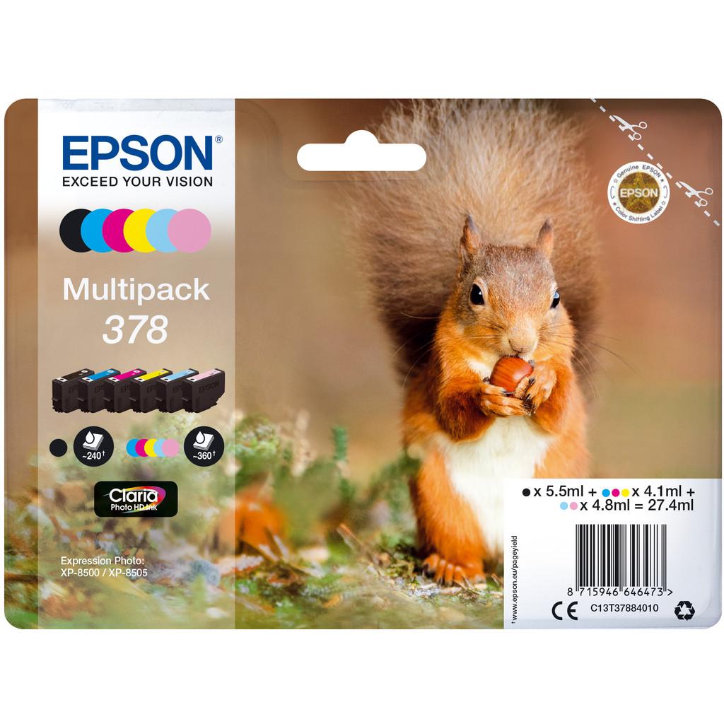 Epson 378 Lot de 6 Couleurs (C13T37884010)