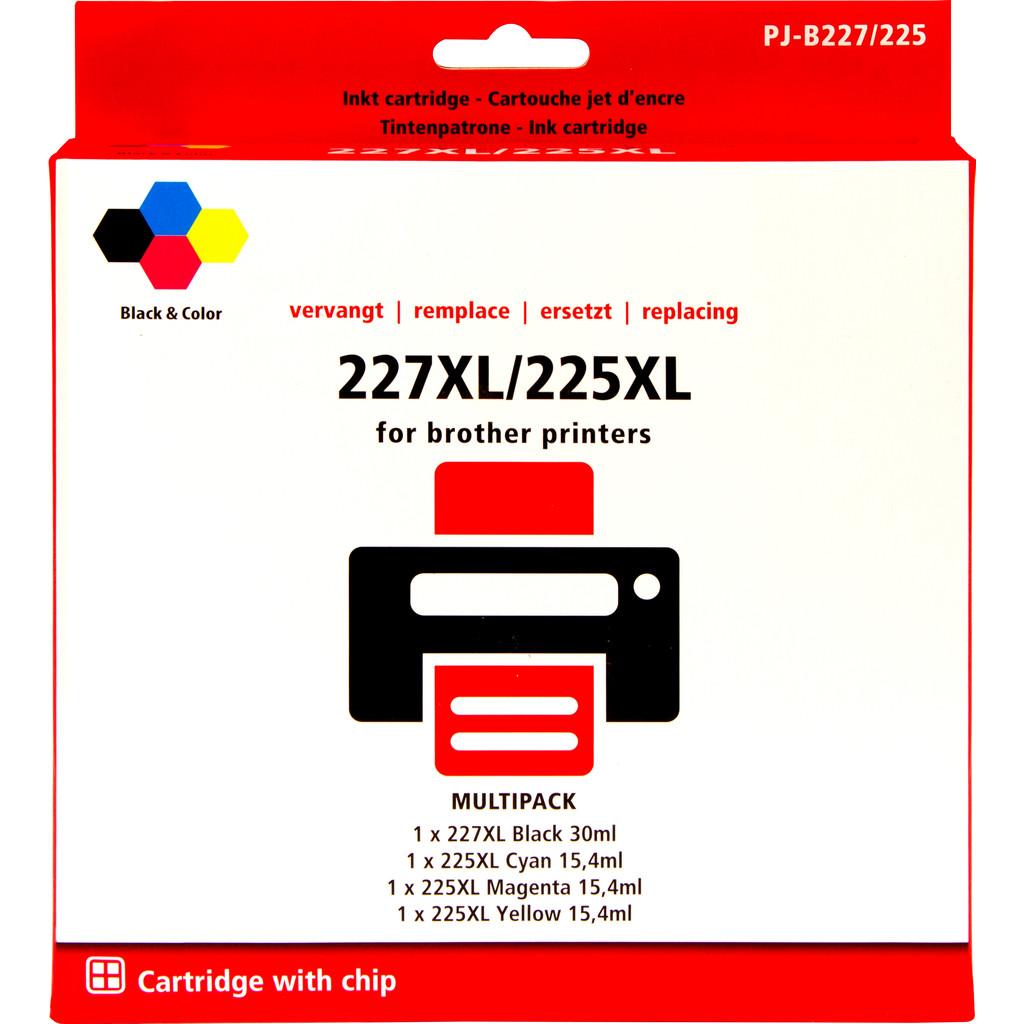 Marque distributeur LC-127XL Lot de 4 Couleurs pour Brother (LC-227XLVAL)