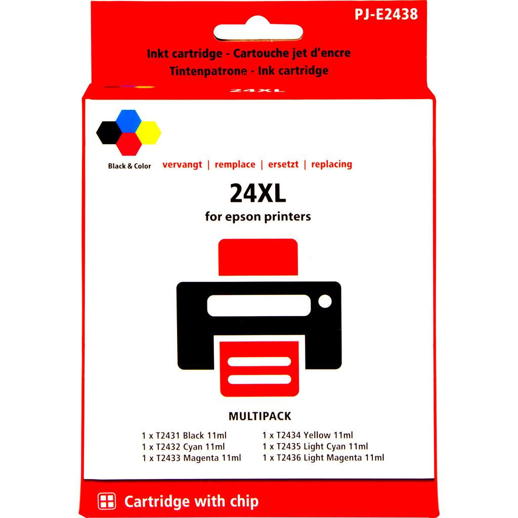 Marque distributeur 24XL Lot de 6 couleurs pour Epson (C13T24384010)