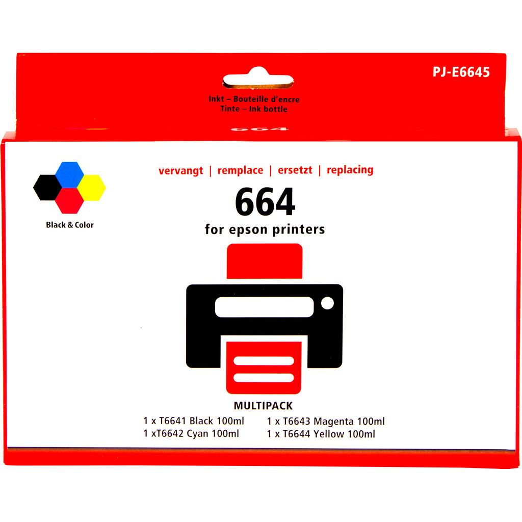 Marque distributeur T66 Lot de 4 Couleurs Epson EcoTank