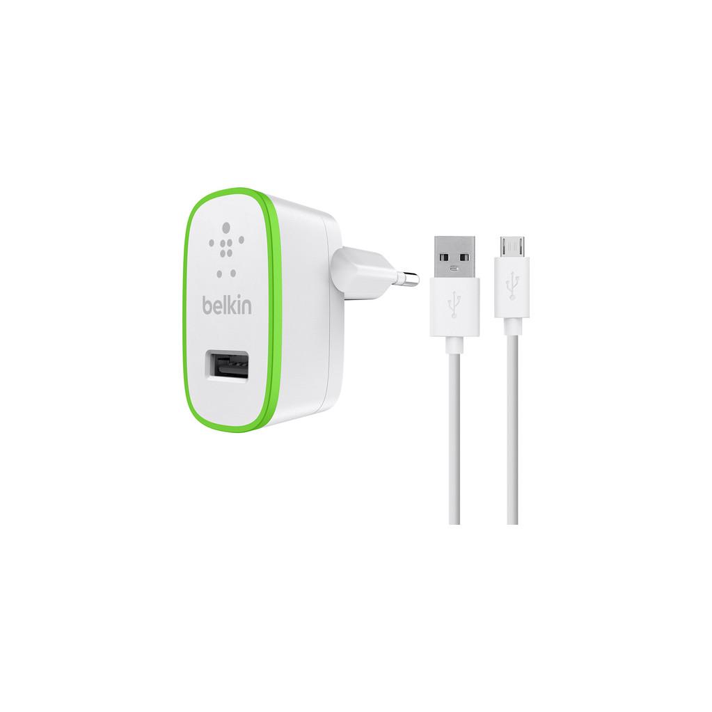 Belkin Chargeur Micro USB 2,4 A 1,2 M Blanc