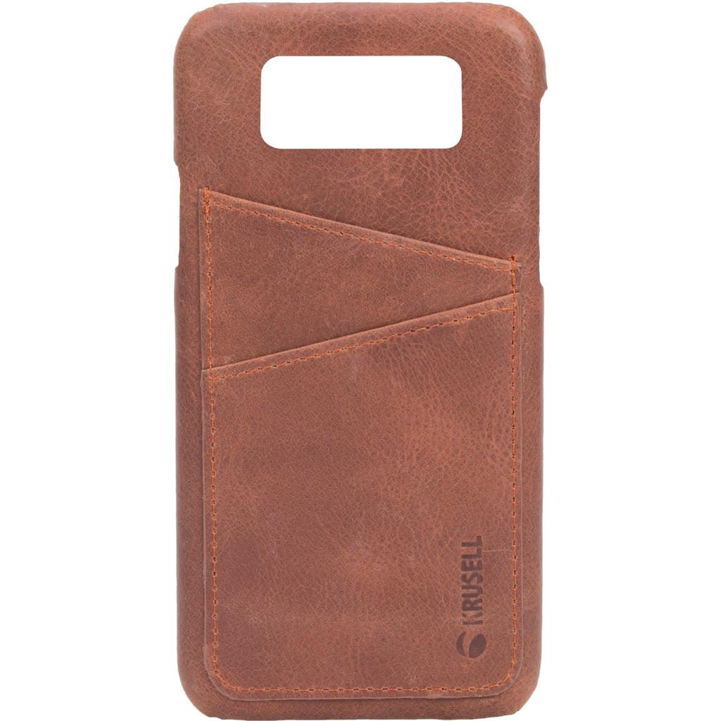 Krusell Sunne Card Samsung Galaxy S9 Back Cover Bruin